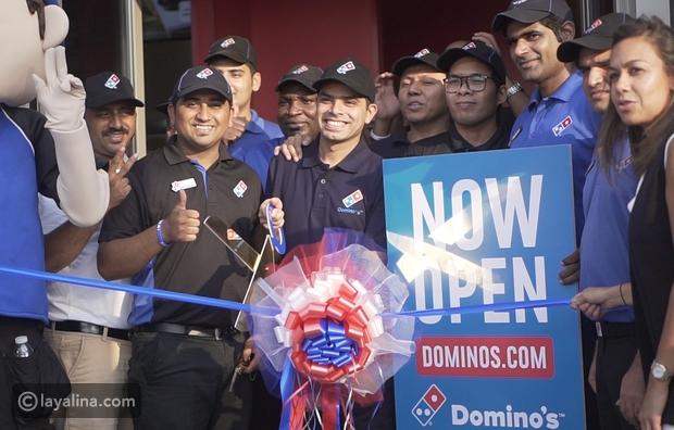 مشاهد حصرية من مطبخ Domino's Pizza في فرعها الجديد في دبي
