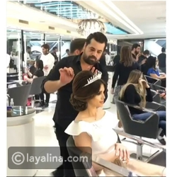تسريحة شعر مرفوعة للعروس من مصفف الشعر اللبناني منير