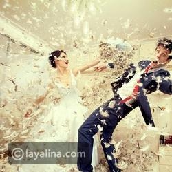 فيديو عريس يحرج عروسه ويصيبها بالذعر بسبب تصرفه المرعب خلال حفل الزفاف