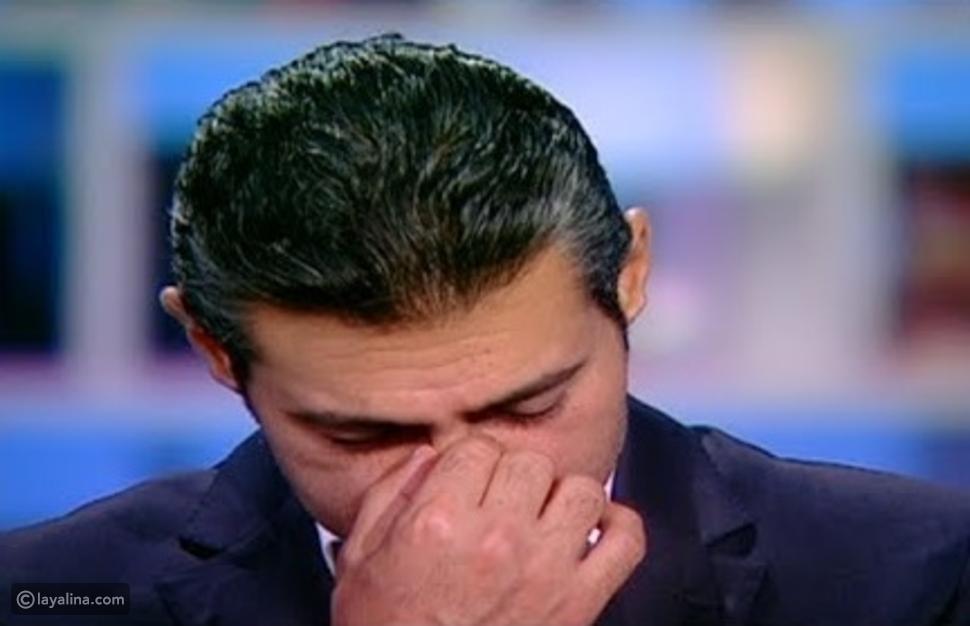 ياسر جلال يبكي على الهواء
