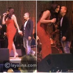 فيديو وصور الكشف عن هوية المعجب الذي لبت هيفاء وهبي أمنيته على المسرح!