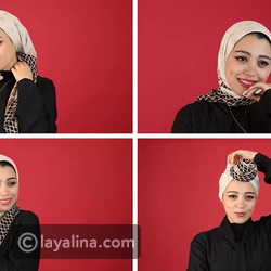 لفات الحجاب المربع بطرق عصرية مع الفاشينيستا غادة بهاء.. شاهدي الخطوات