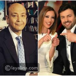 فيديو هكذا علق عمرو أديب على فرق العمر بين تيم حسن ووفاء الكيلاني